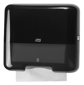553108 Tork műanyag mini Z és C hajtogatású kéztörlő adagoló, fekete (H3 rendszer)