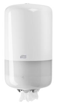 558000 Tork műanyag mini belsőmag adagolású adagoló, fehér (M1 rendszer)