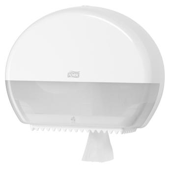 555000 Tork műanyag mini Jumbo toalettpapír adagoló, fehér (T2 rendszer)