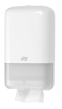 556000 Tork műanyag hajtogatott toalettpapír adagoló, fehér ( T3 rendszer)