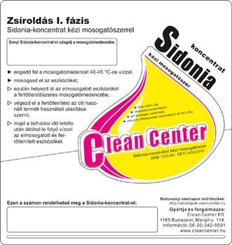 Sidonia-koncentrat I. fázis kisérőmatrica