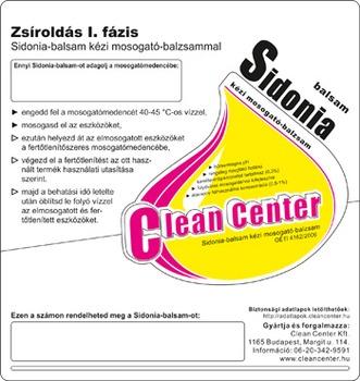 Sidonia-balsam I. fázis kísérőmatrica