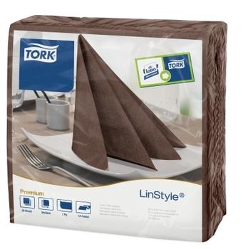 478727 Tork Linstyle kakaó Dinner szalvéta