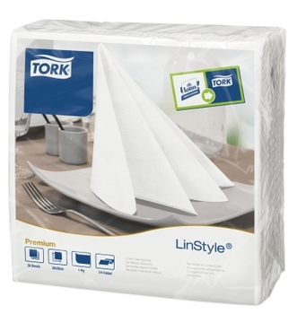 478711 Tork Linstyle fehér Dinner szalvéta