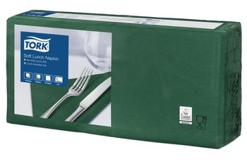 477413 Tork Soft sötétzöld Lunch szalvéta