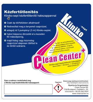 Kliniko-Sept kézfertőtlenítő HABszappan kísérőmatrica