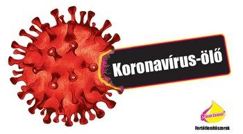 Koronavírus-ölő matrica