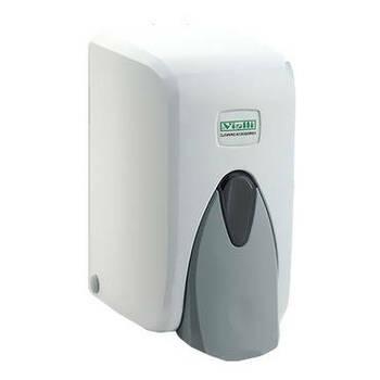 Vialli habszappan adagoló, műanyag, fehér 500ml (F5)