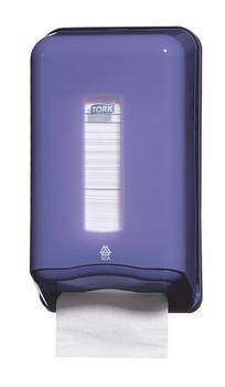 349083 Tork hajtogatott toalettpapír adagoló, lila (T3 rendszer)